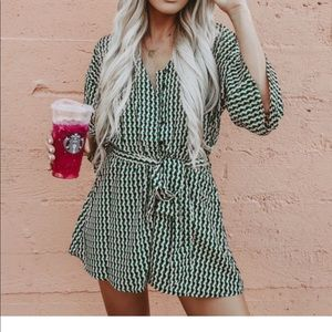 Work of Art Button Down Pocketed Romper